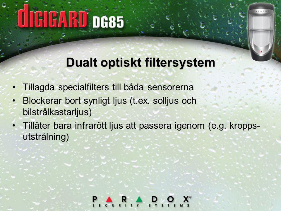 Dualt optiskt filtersystem