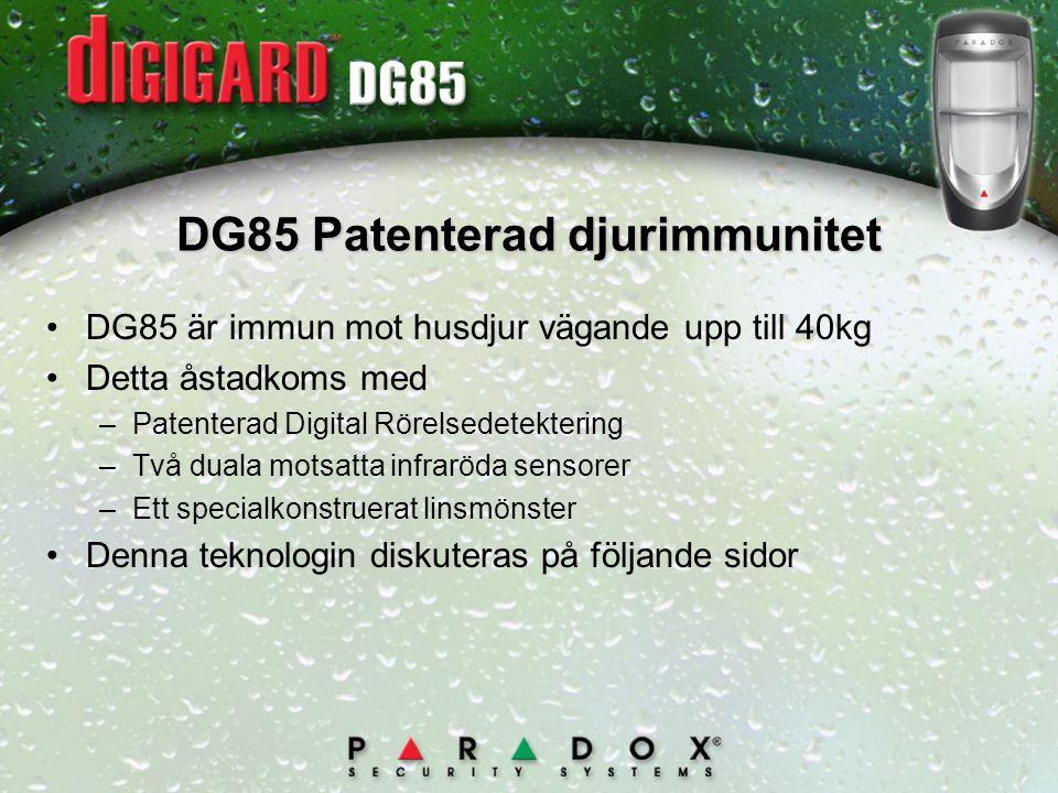 DG85 Patenterad djurimmunitet