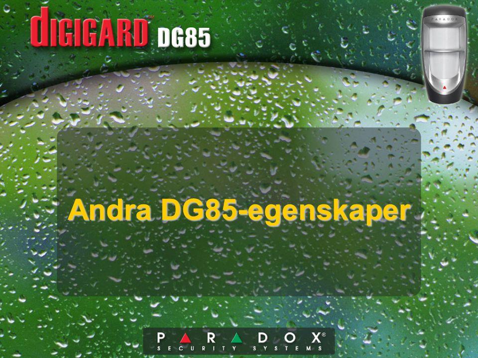 Andra DG85-egenskaper