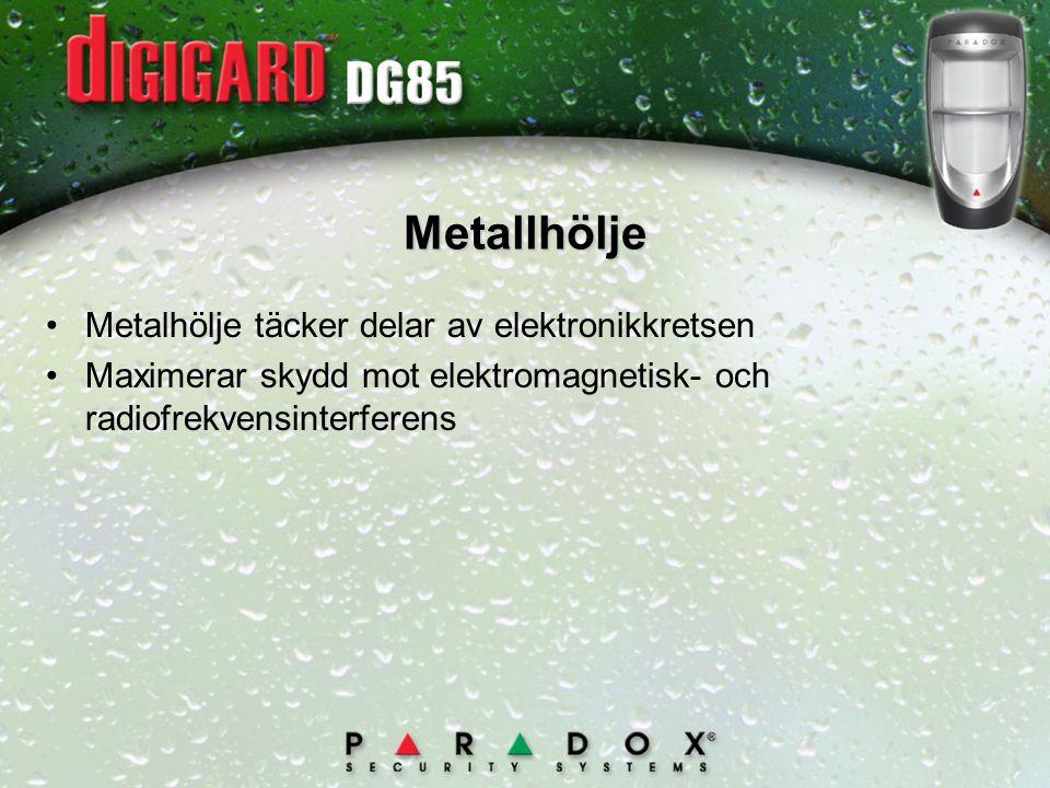 Metallhölje Metalhölje täcker delar av elektronikkretsen
