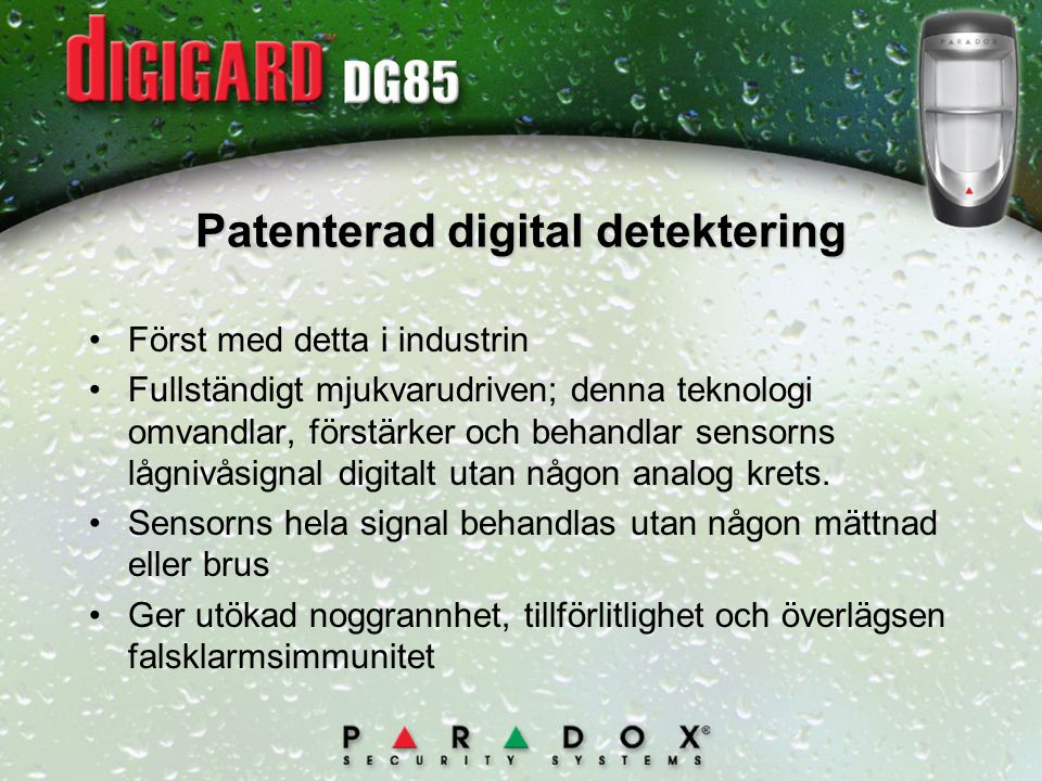 Patenterad digital detektering
