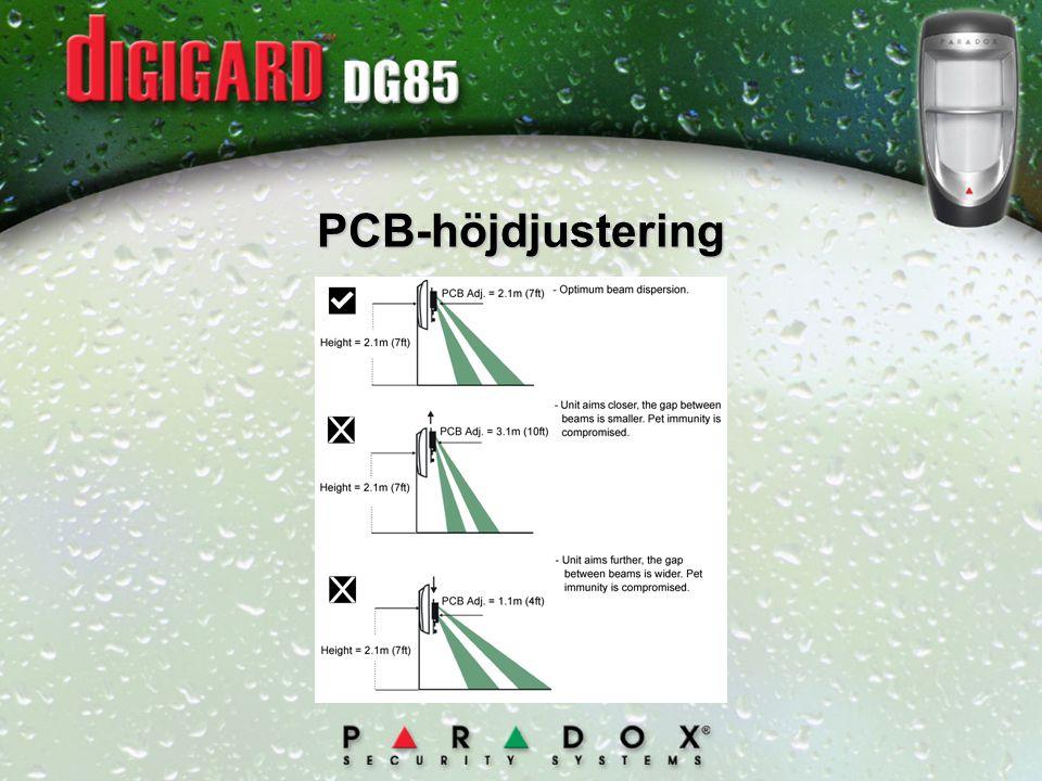 PCB-höjdjustering