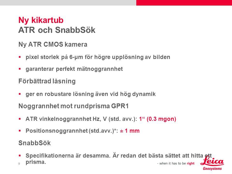 Ny kikartub ATR och SnabbSök