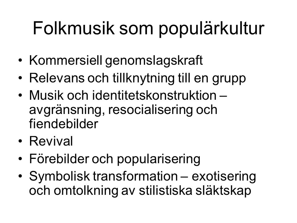 Folkmusik som populärkultur