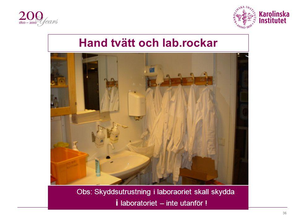 Hand tvätt och lab.rockar