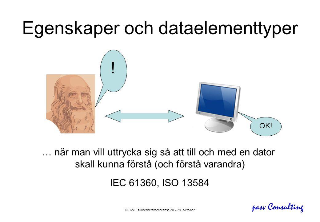 Egenskaper och dataelementtyper