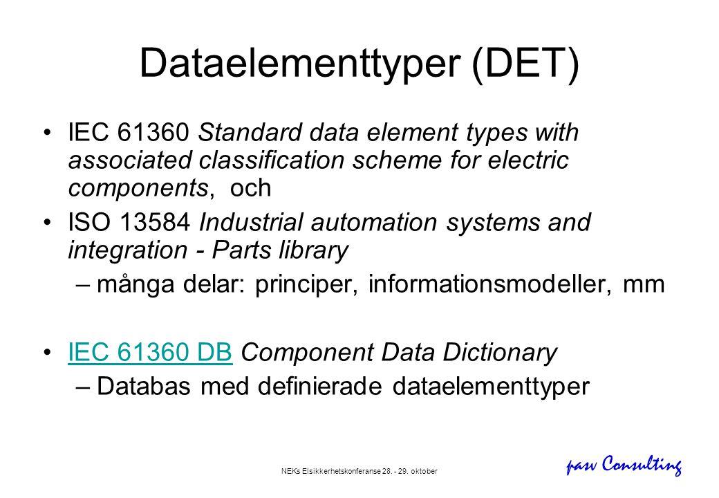 Dataelementtyper (DET)