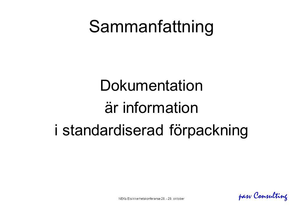 Sammanfattning Dokumentation är information