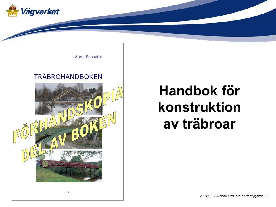 Handbok för konstruktion av träbroar