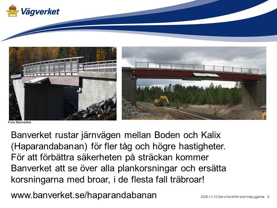 Banverket rustar järnvägen mellan Boden och Kalix