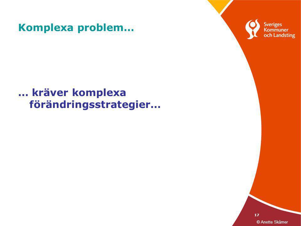 … kräver komplexa förändringsstrategier…