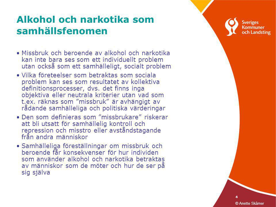 Alkohol och narkotika som samhällsfenomen