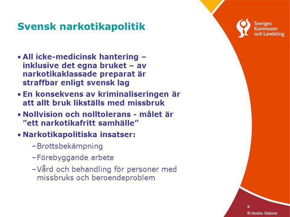 Svensk narkotikapolitik