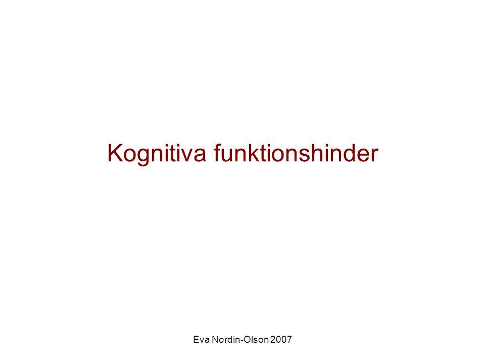 Kognitiva funktionshinder
