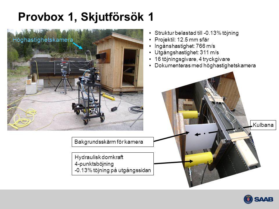 Provbox 1, Skjutförsök 1 Höghastighetskamera