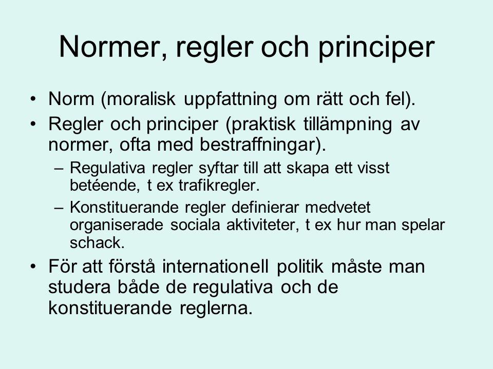 Normer, regler och principer