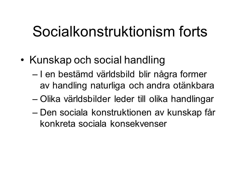 Socialkonstruktionism forts