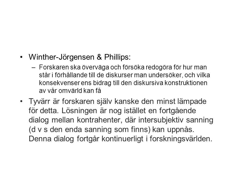 Winther-Jörgensen & Phillips: