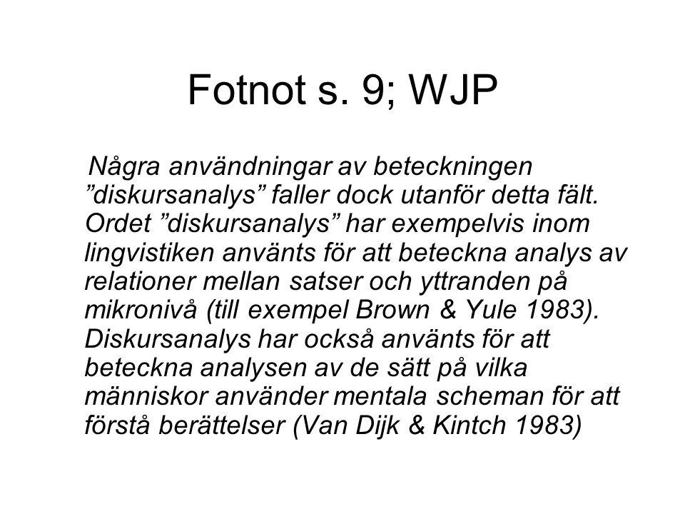 Fotnot s. 9; WJP