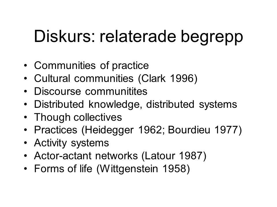 Diskurs: relaterade begrepp