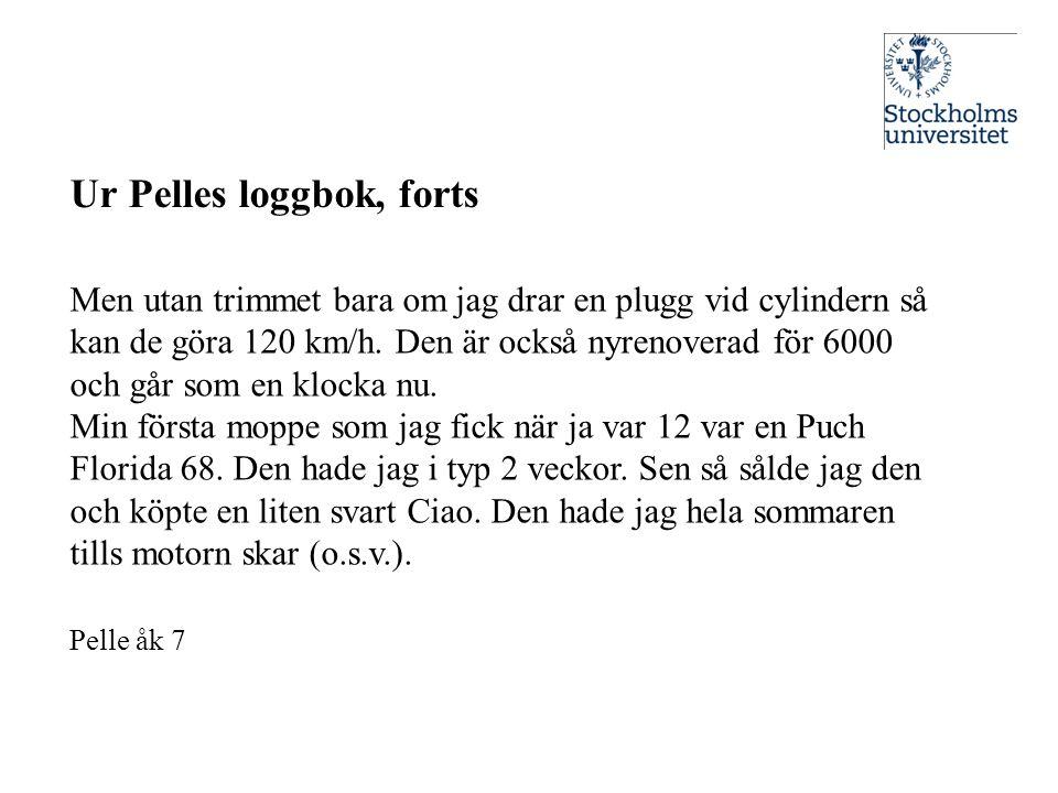 Ur Pelles loggbok, forts