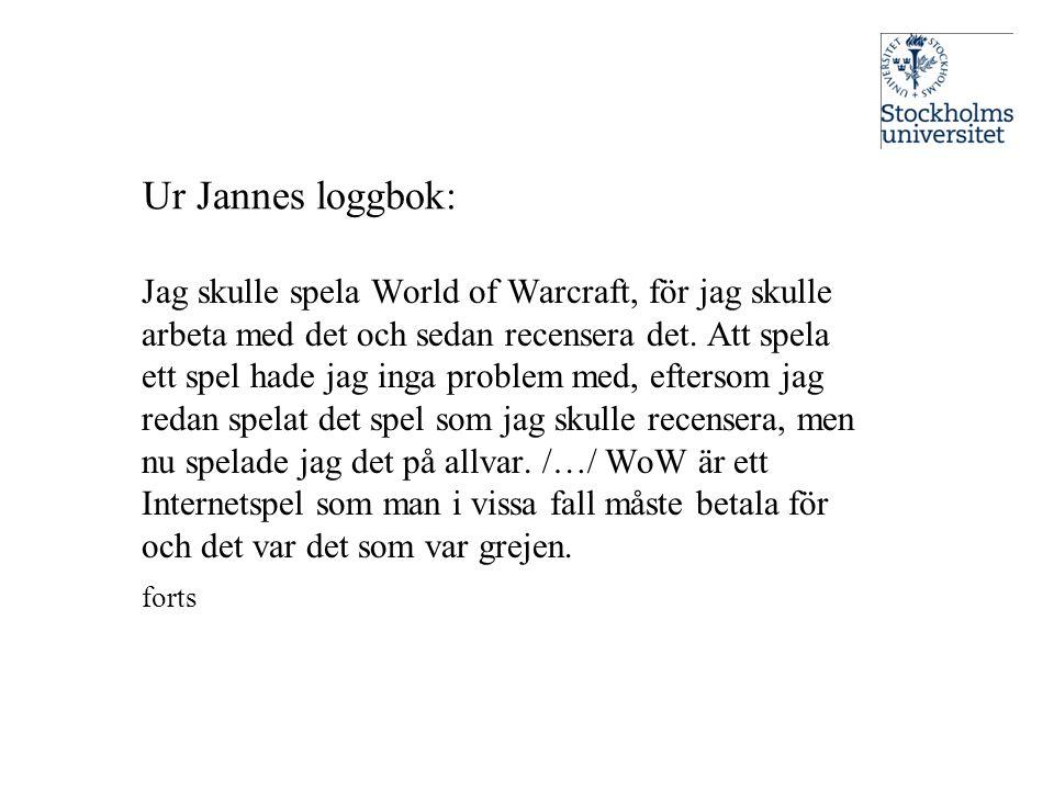 Ur Jannes loggbok: