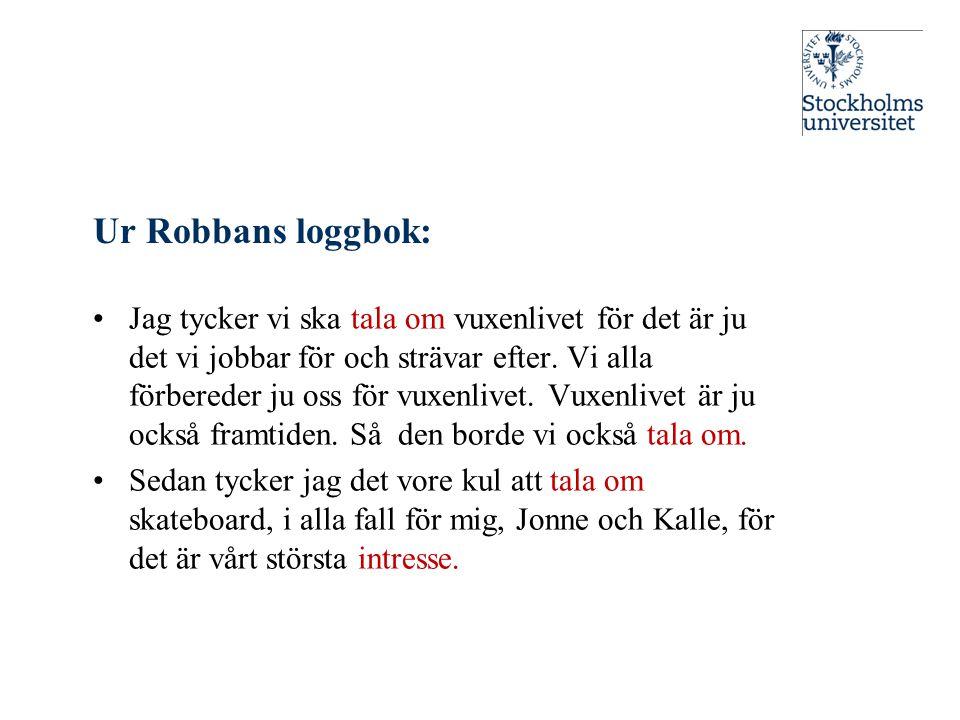 Ur Robbans loggbok: