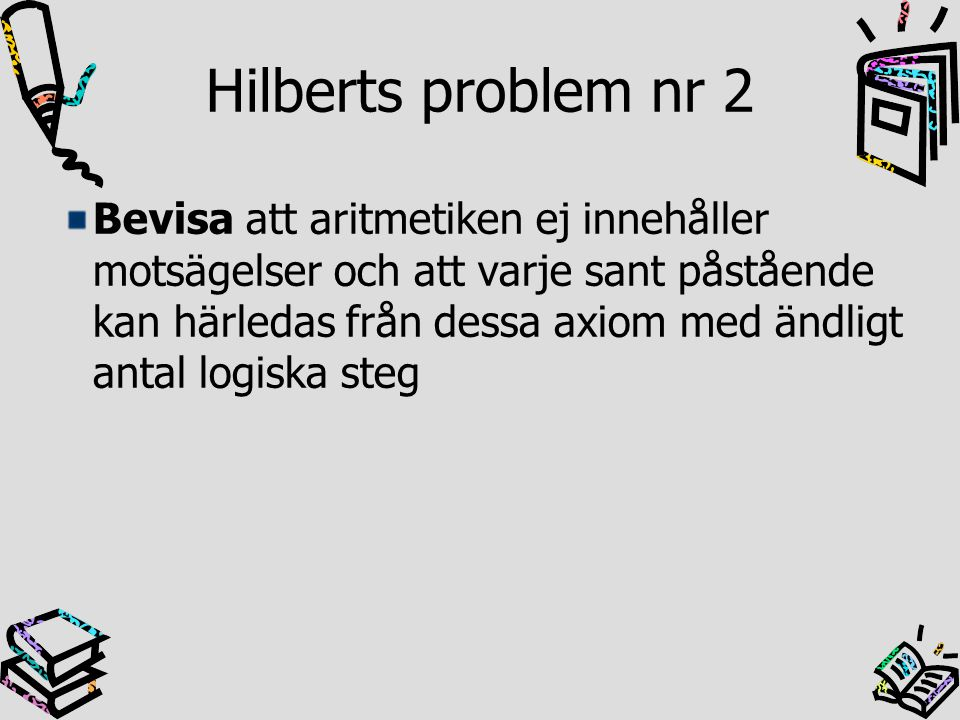 Hilberts problem nr 2