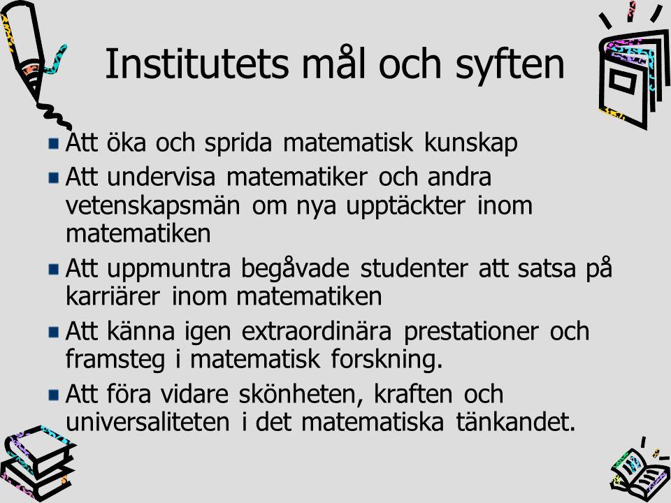 Institutets mål och syften