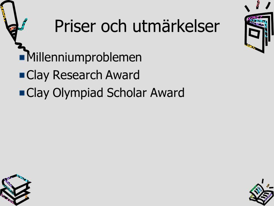 Priser och utmärkelser