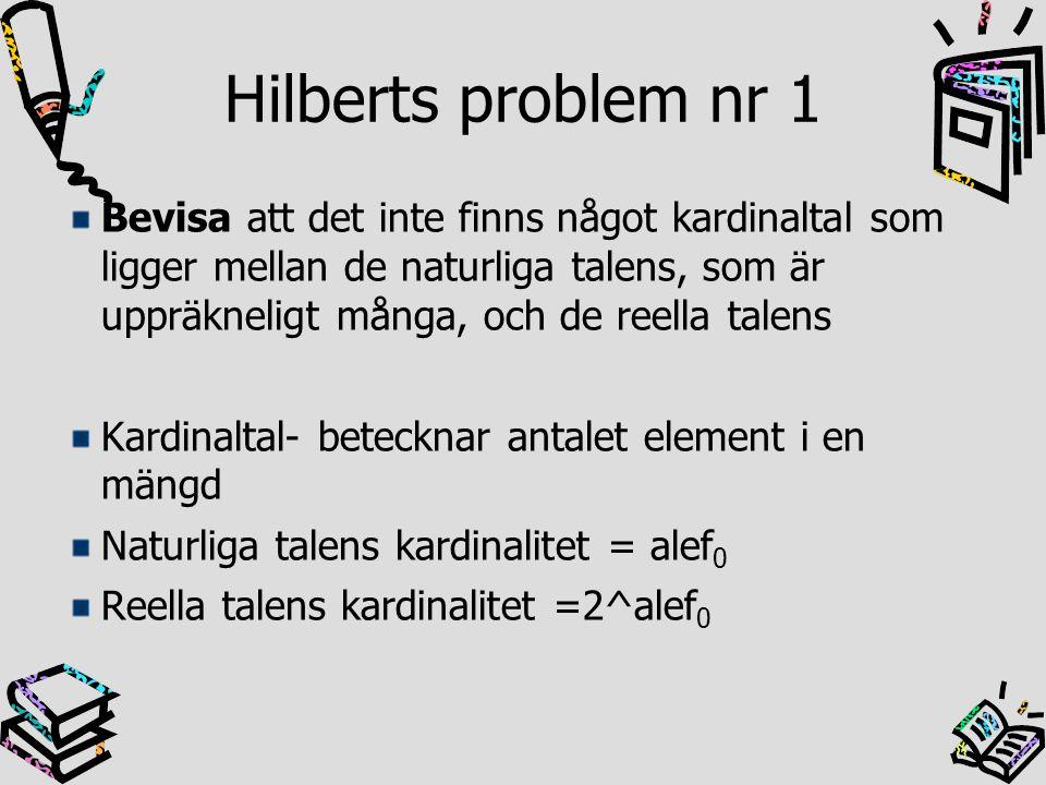 Hilberts problem nr 1