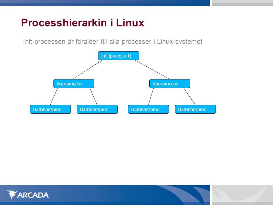 Processhierarkin i Linux