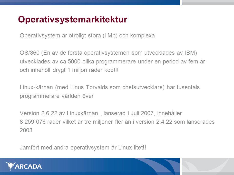 Operativsystemarkitektur