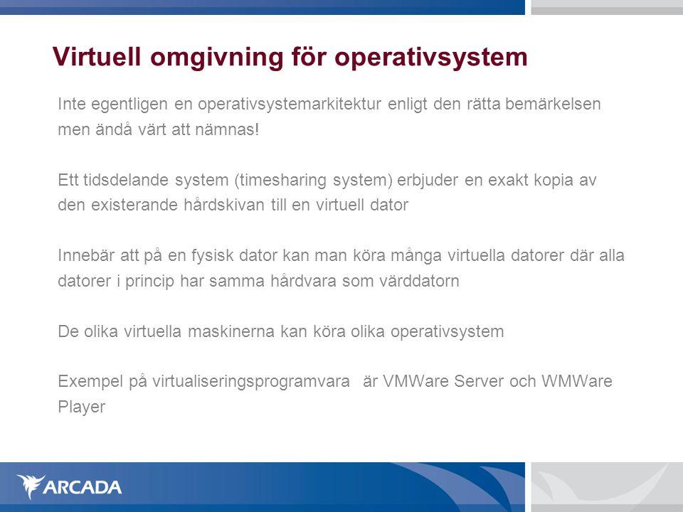Virtuell omgivning för operativsystem