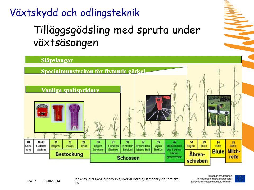 Tilläggsgödsling med spruta under växtsäsongen