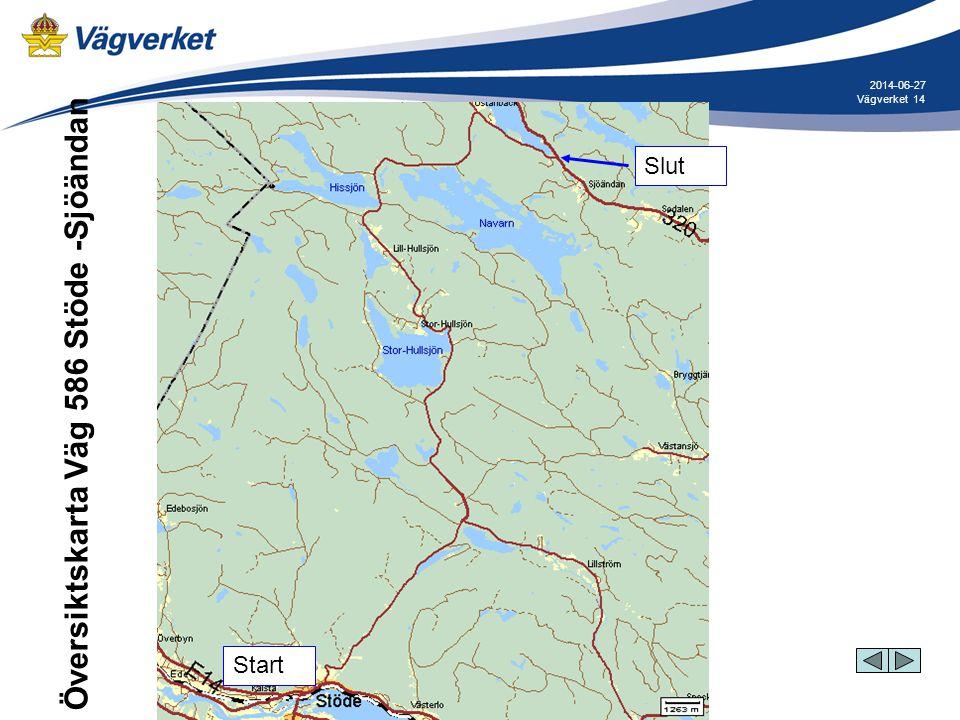 Översiktskarta Väg 586 Stöde -Sjöändan