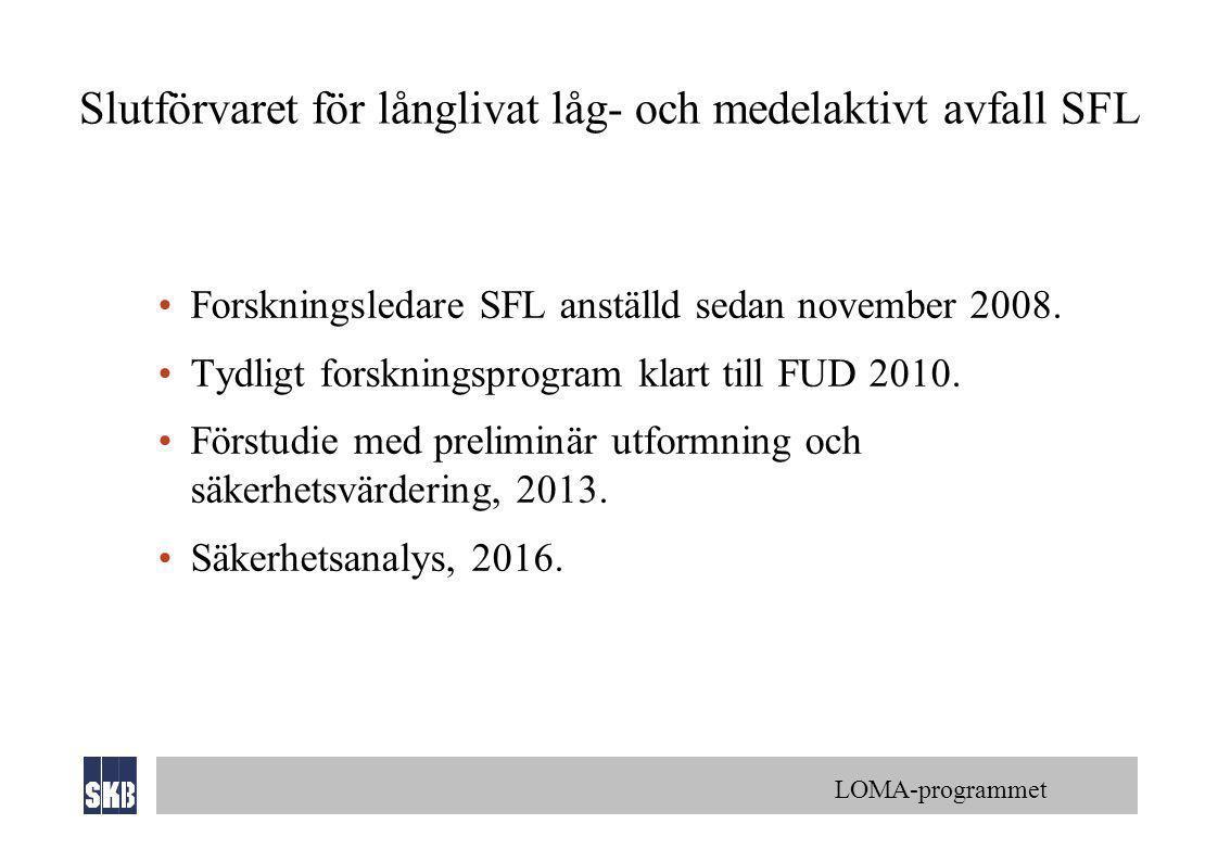 Slutförvaret för långlivat låg- och medelaktivt avfall SFL