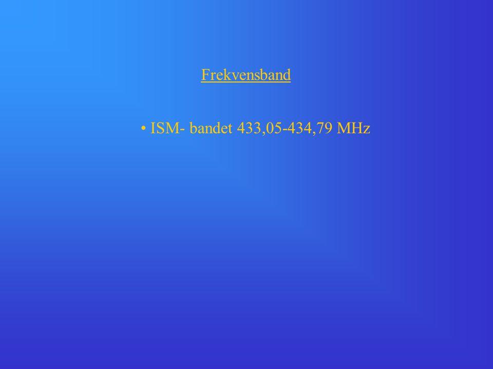 Frekvensband ISM- bandet 433,05-434,79 MHz