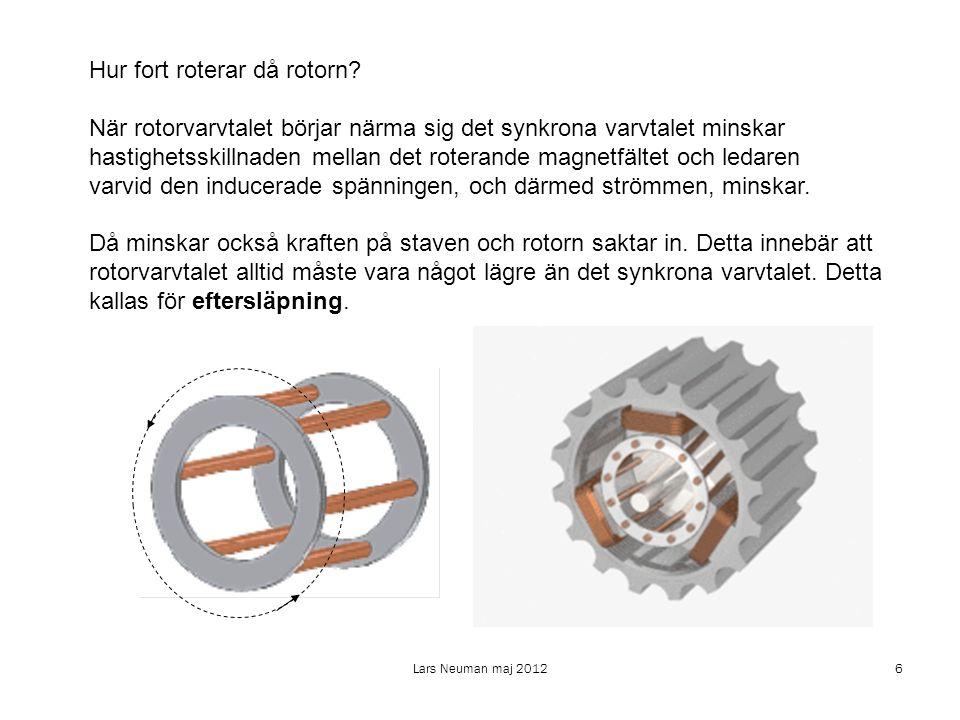 Hur fort roterar då rotorn