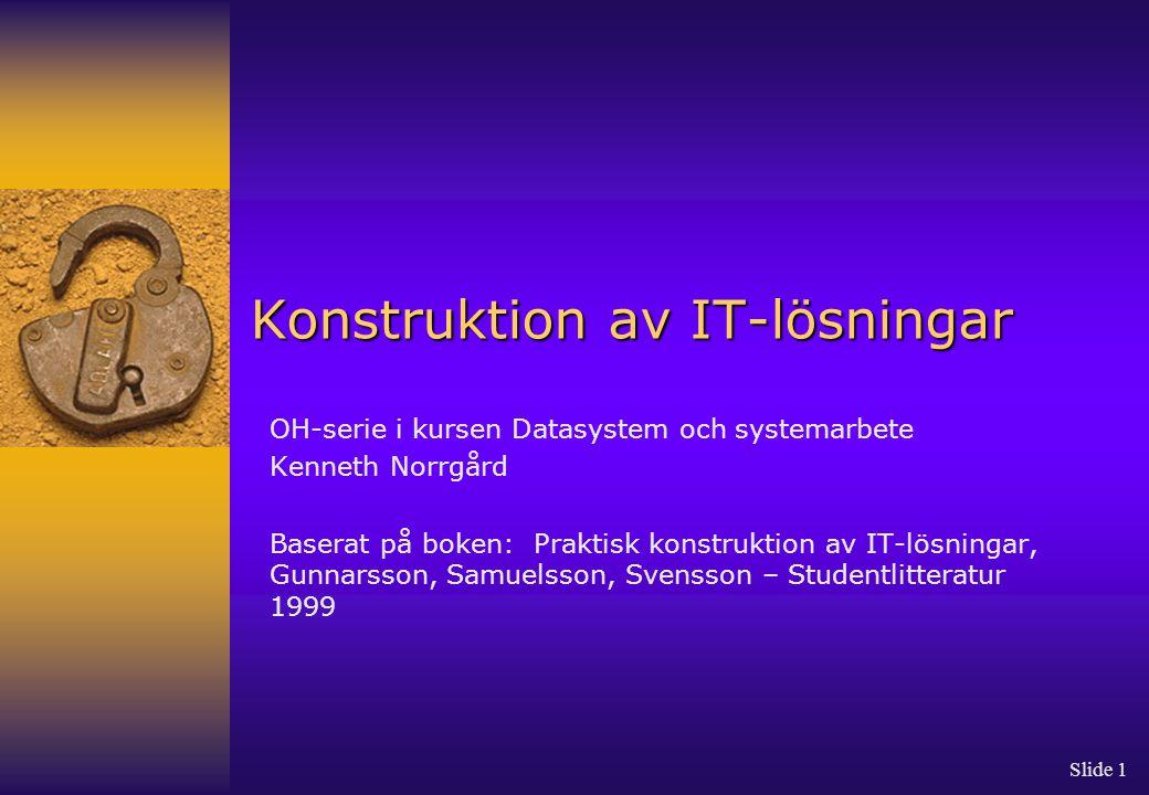 Konstruktion av IT-lösningar