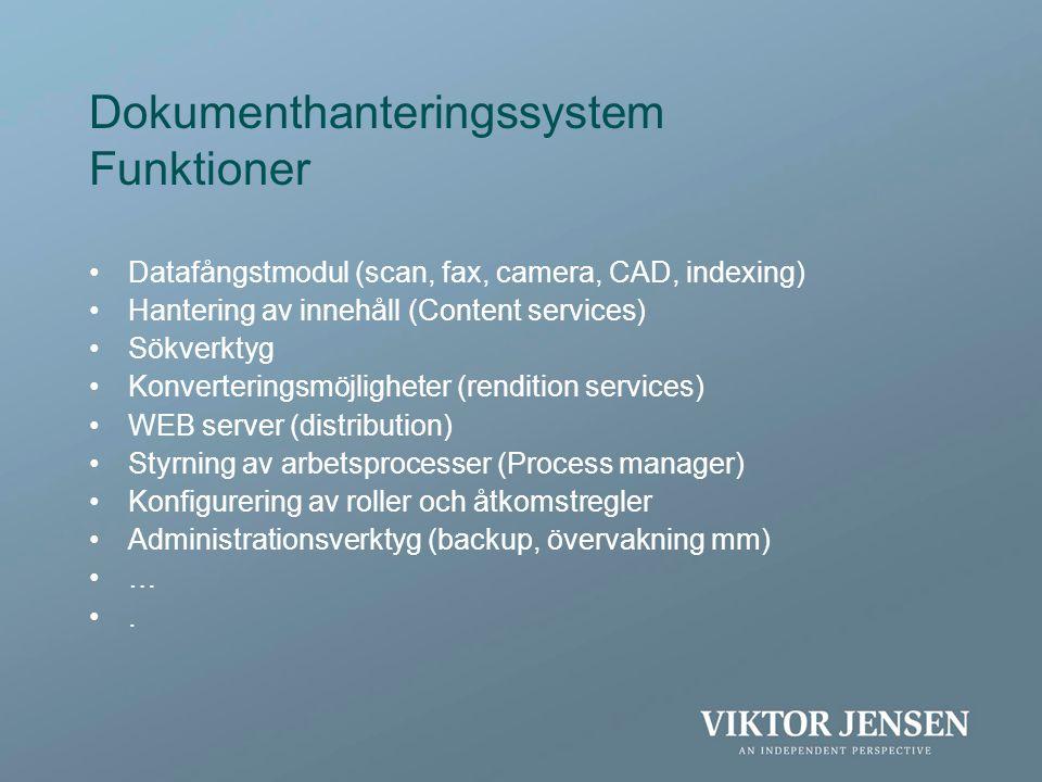 Dokumenthanteringssystem Funktioner