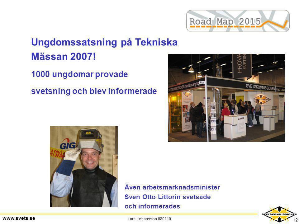 Ungdomssatsning på Tekniska Mässan 2007!