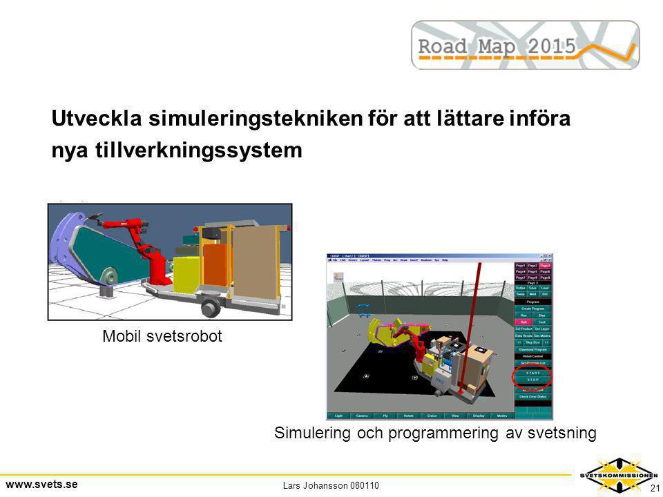 Utveckla simuleringstekniken för att lättare införa nya tillverkningssystem