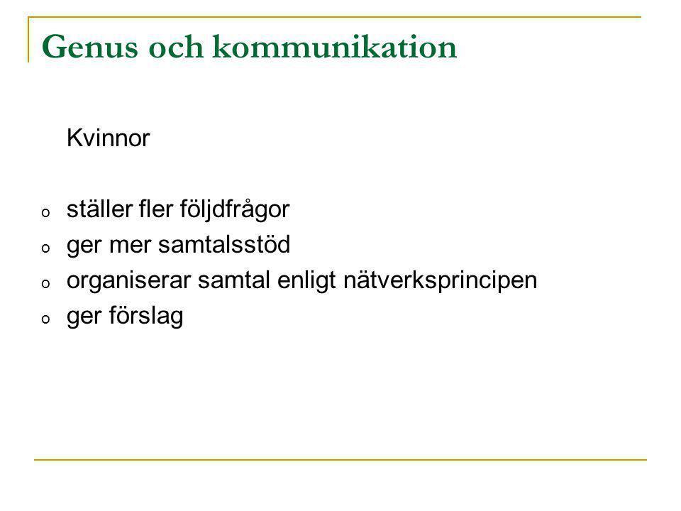 Genus och kommunikation