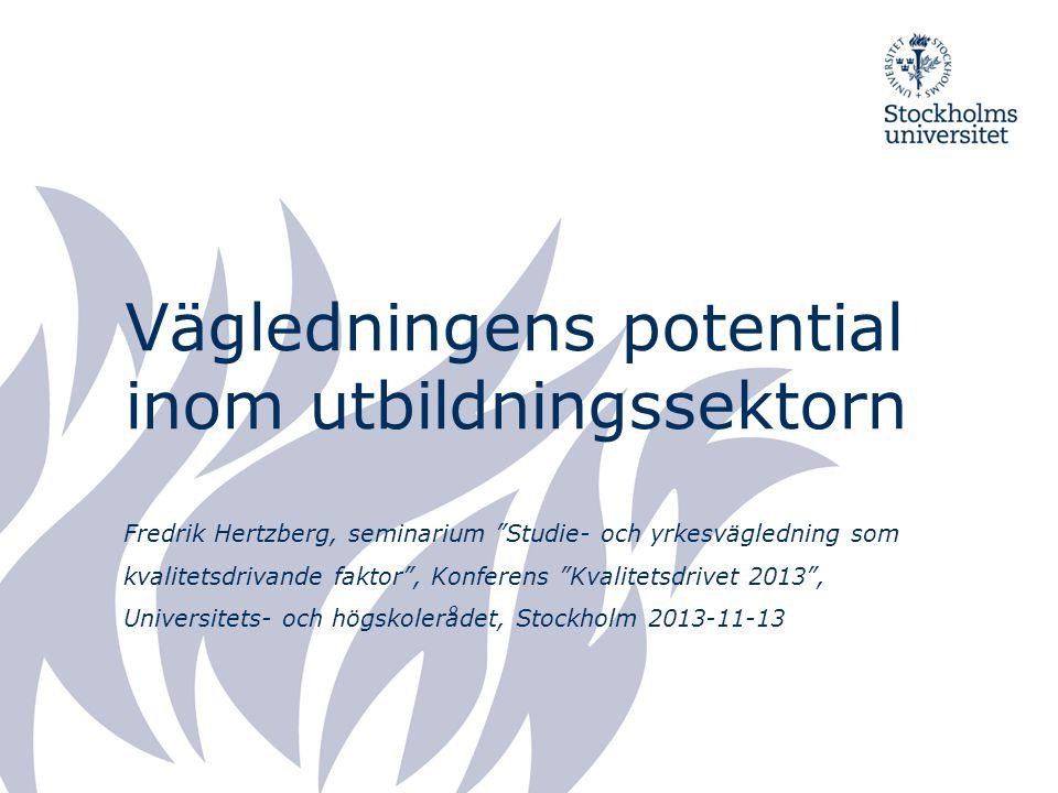 Vägledningens potential inom utbildningssektorn