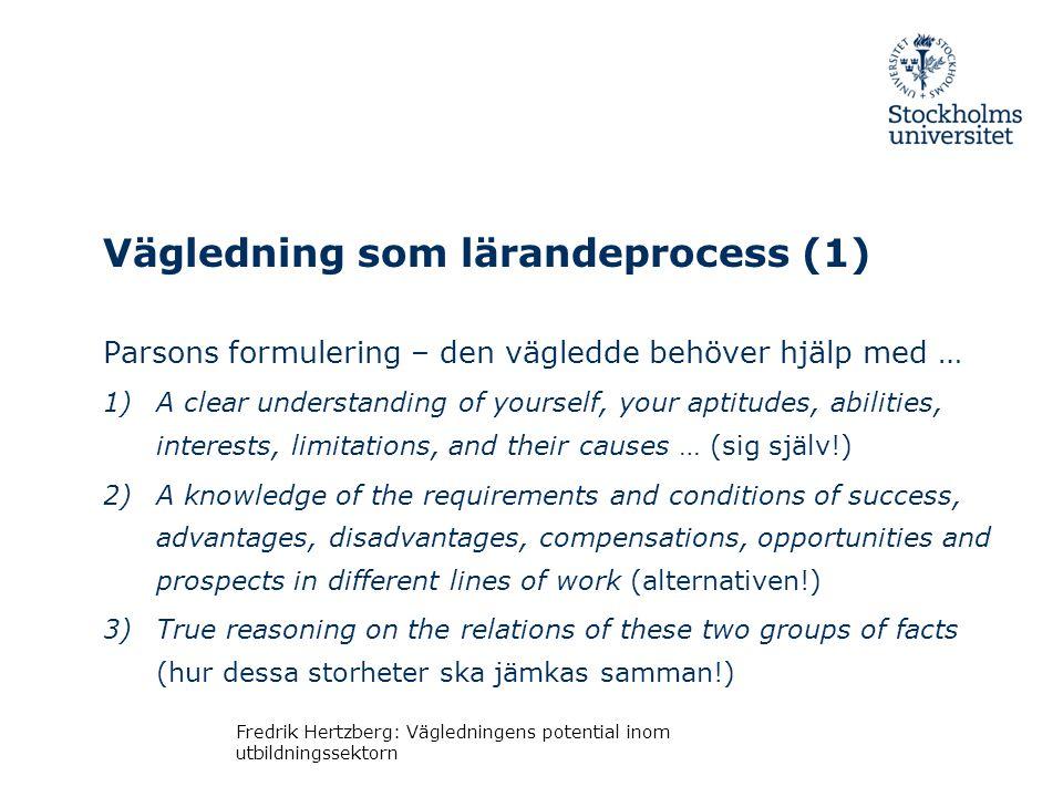 Vägledning som lärandeprocess (1)