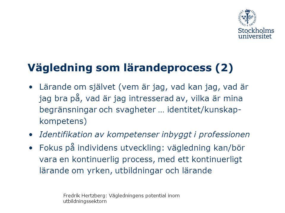 Vägledning som lärandeprocess (2)