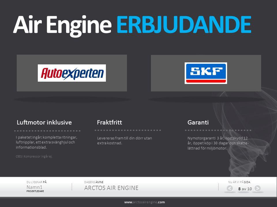Air Engine ERBJUDANDE Luftmotor inklusive Fraktfritt Garanti