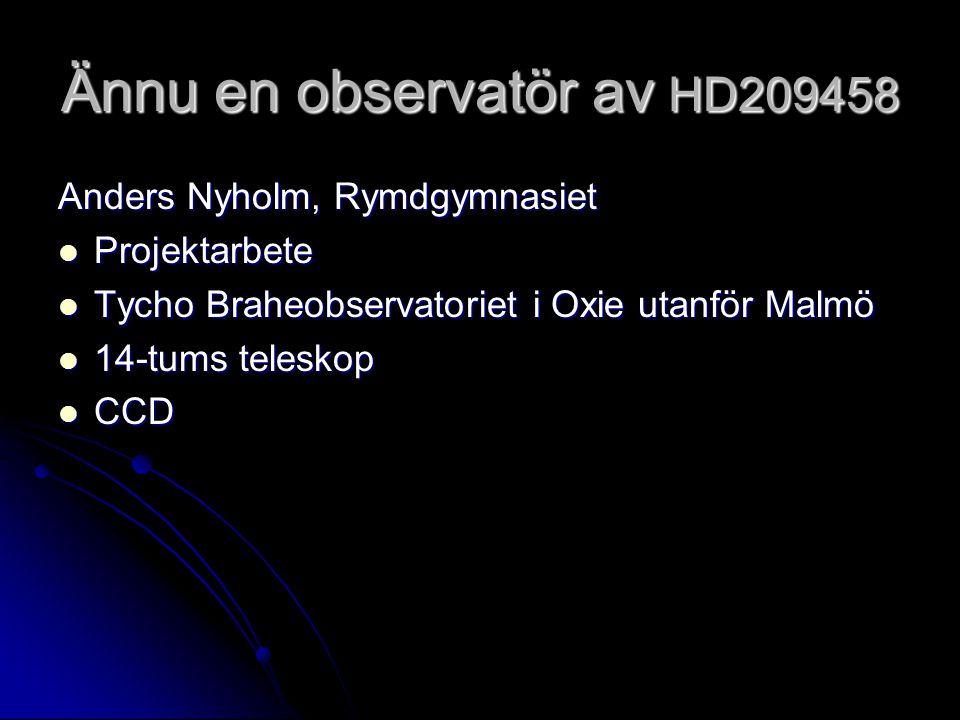 Ännu en observatör av HD209458