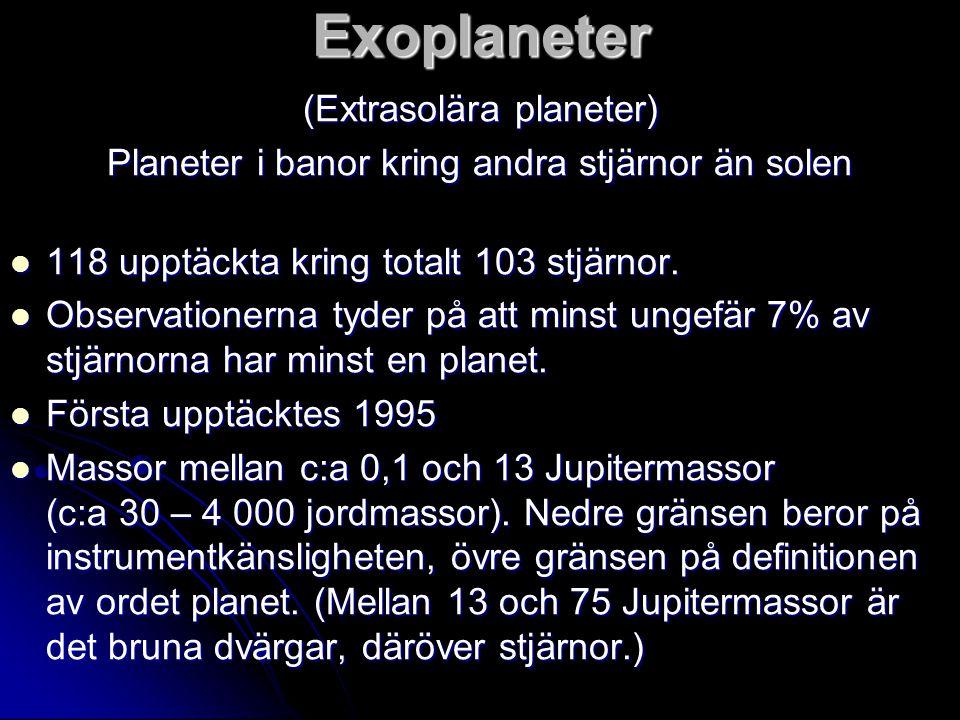 Exoplaneter (Extrasolära planeter)